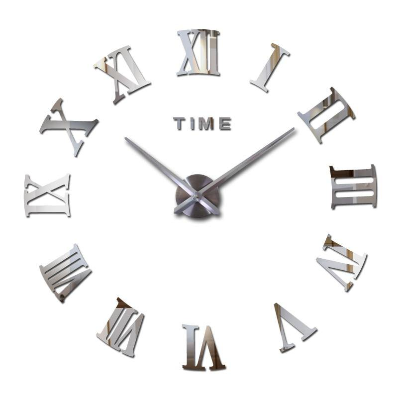 New home decoration wall clock Quartz Metal mirror wall clock