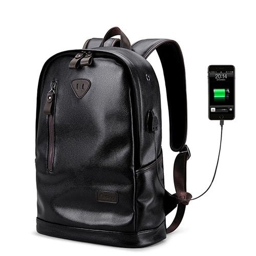 Unisex Backpack External USB Charge Waterproof  Backpack