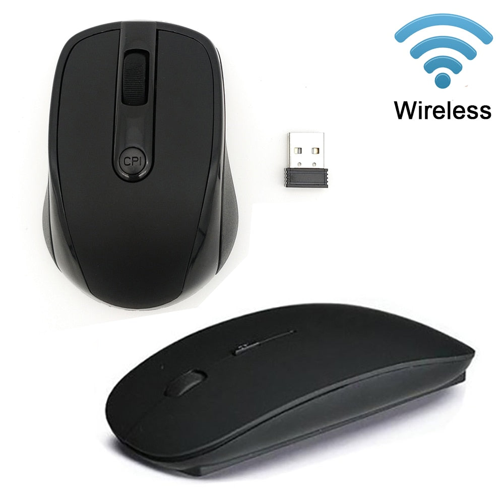 USB Wireless Mouse 2.4G Receiver Super Slim Mouse 10M Working Distance For Computer Laptop
