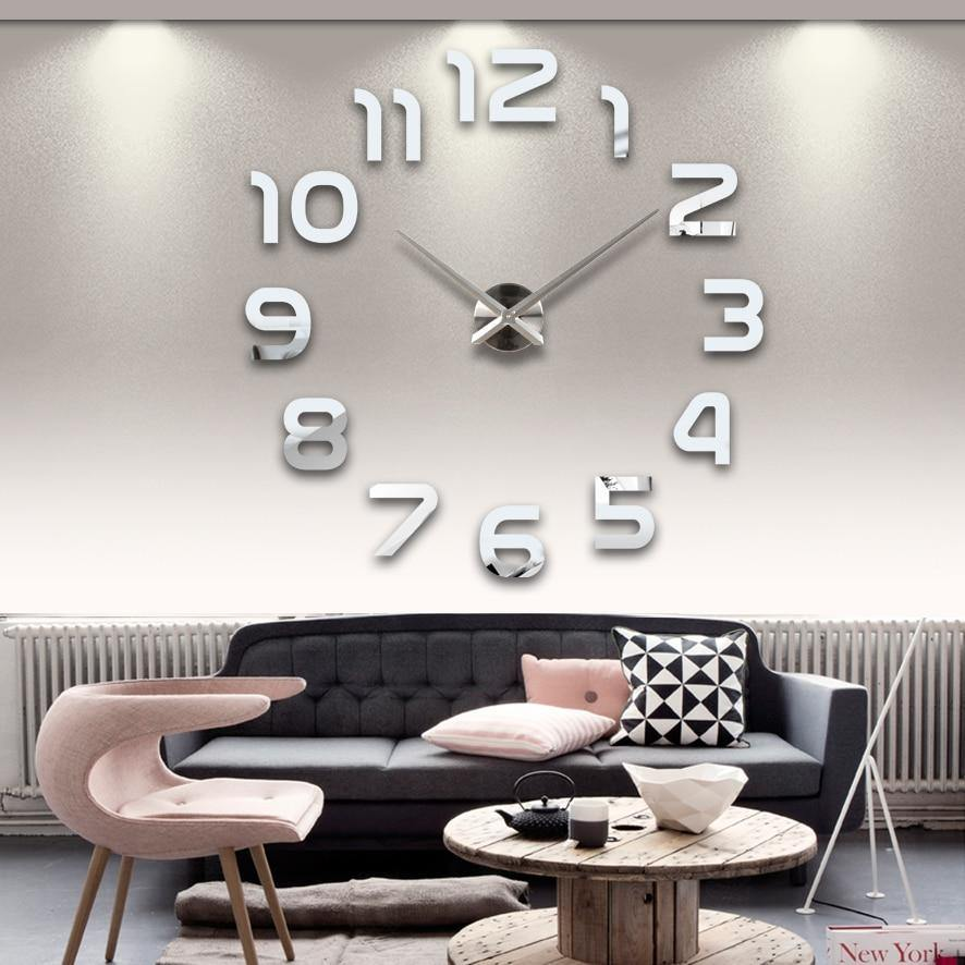 3D MIRROR STICKER WALL CLOCK - soqexpress