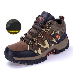 New arrival winter hiking shoes quality plush warm men women trekking shoes
