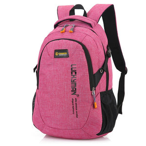New Fashion Men's Backpack Bag Male Polyester Laptop  Computer Bag