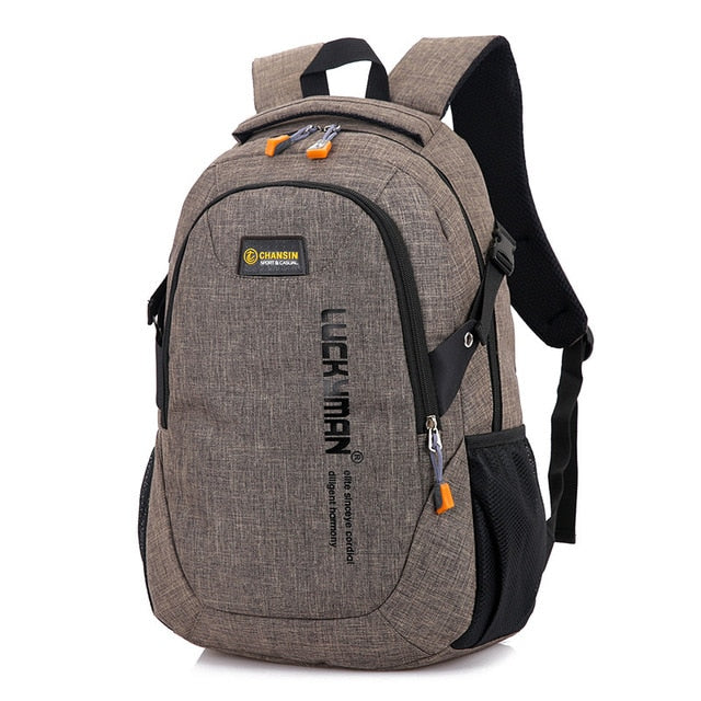 2019 New Fashion Men's Backpack Bag Male Polyester Laptop  Computer Bag