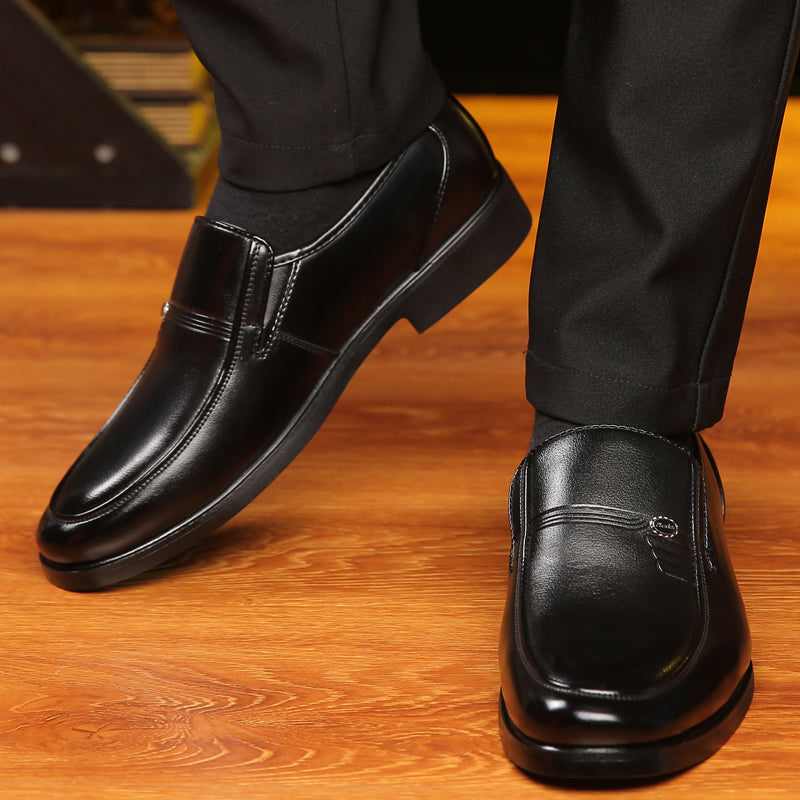 Oxford Breathable Men Leather Formal Business Shoes