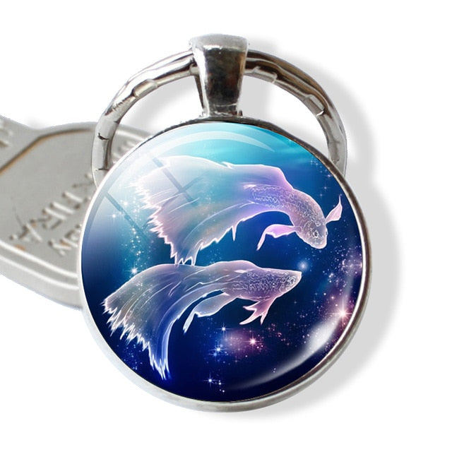 Zodiac Sign Key Chain