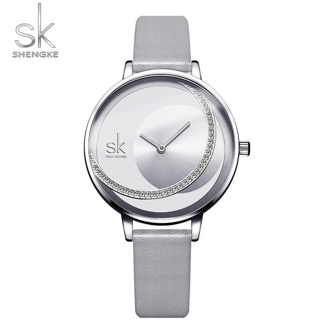 SK Fashion Luxury  Women Quartz Watch Creative Thin Ladies Wrist Watch
