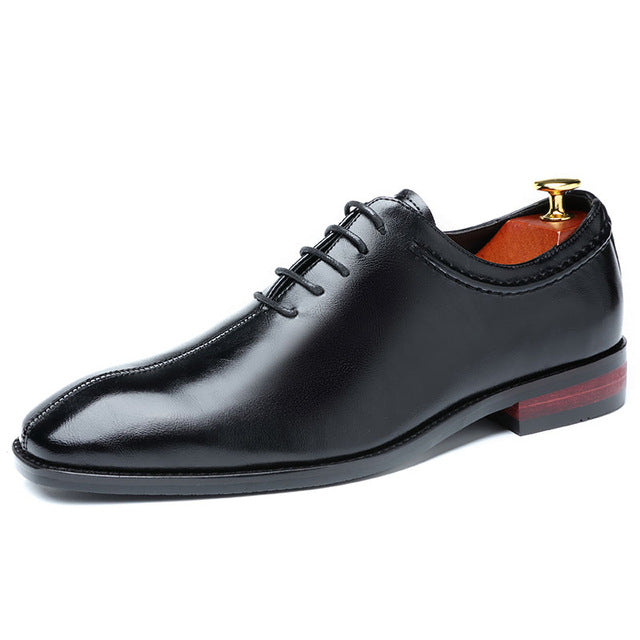 Gioele Lace-Up Loafers Dress Leather Shoe For Man