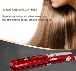 Ceramic Steam Hair Straightener Professional Flat Iron Vapor Spray