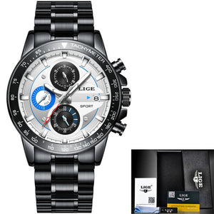 Waterproof Ultra Thin Date Wrist Watch
