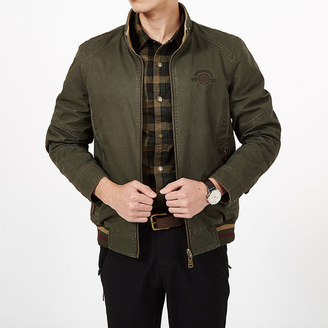 Plus Size Autumn Winter Double-sided Pure Cotton Men Jacket