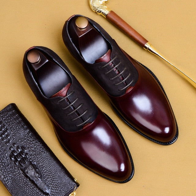 Matteo Dress Shoes Genuine Leather Oxford Shoes for Men