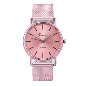 Geneva Women Top Brand Luxury Watch Woman's Bracelet Stainless Steel