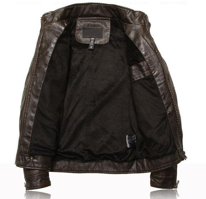 New arrive motorcycle leather jacket men - soqexpress