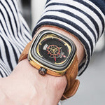 HOT SALE LUXURY MEN SQUARE QUARTZ WATCH