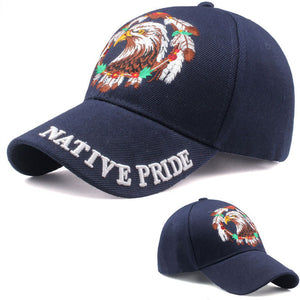 Unisex USA Flag Baseball Cap Eagle Snap-back
