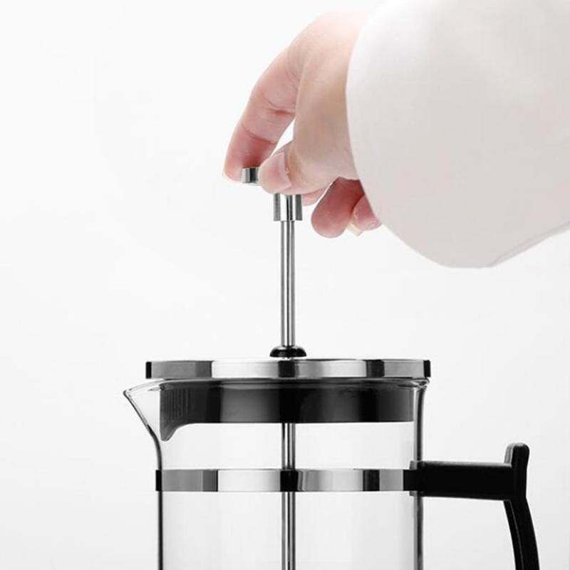 350ml Manual Coffee Espresso Maker Pot Stainless Steel Glass - soqexpress