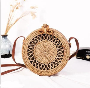 Women Summer Hollow Handmade Messenger Crossbody Bag