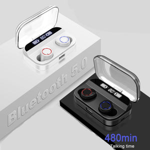 Wireless Earphone Bluetooth 5.0 with Power Display Touch Control