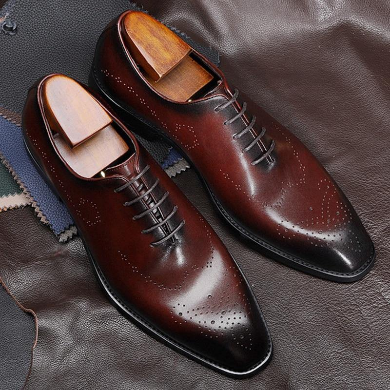 BULLOCK GENUINE LEATHER BLACK LACE-UP SHOE