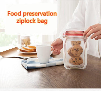 Resuable bottle ziplock bag
