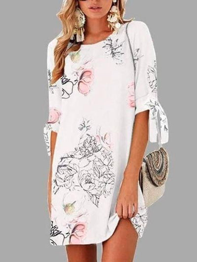 Summer Floral Print Casual Dresses