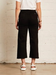 The High-rise Wide Leg | Jet Black