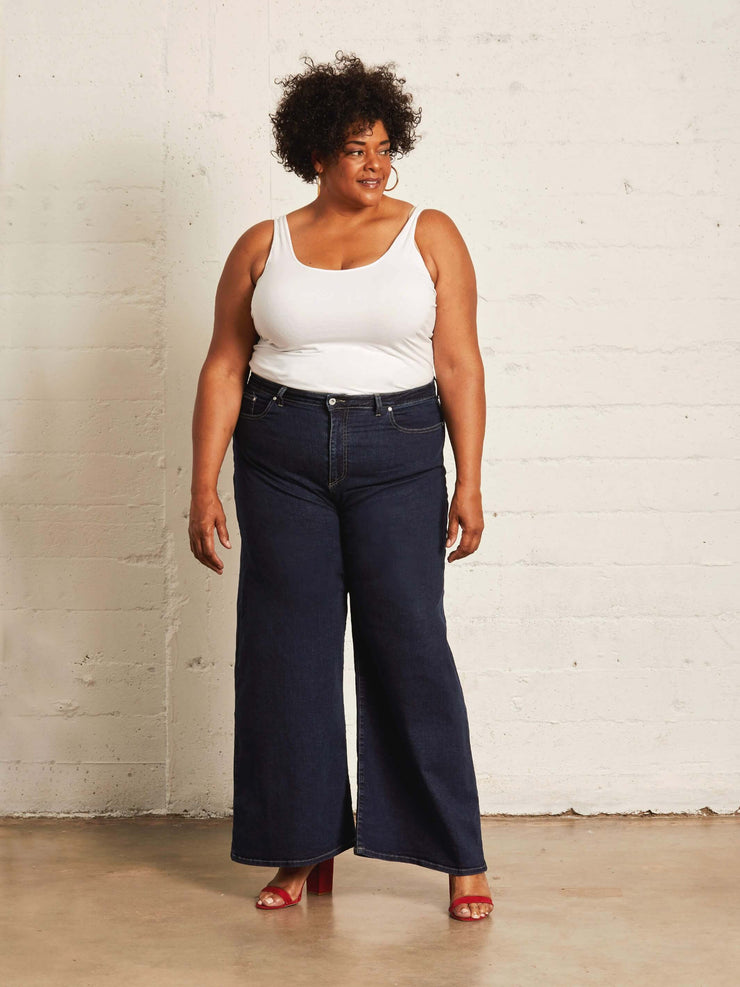 The High-rise Wide Leg | Deep Blue