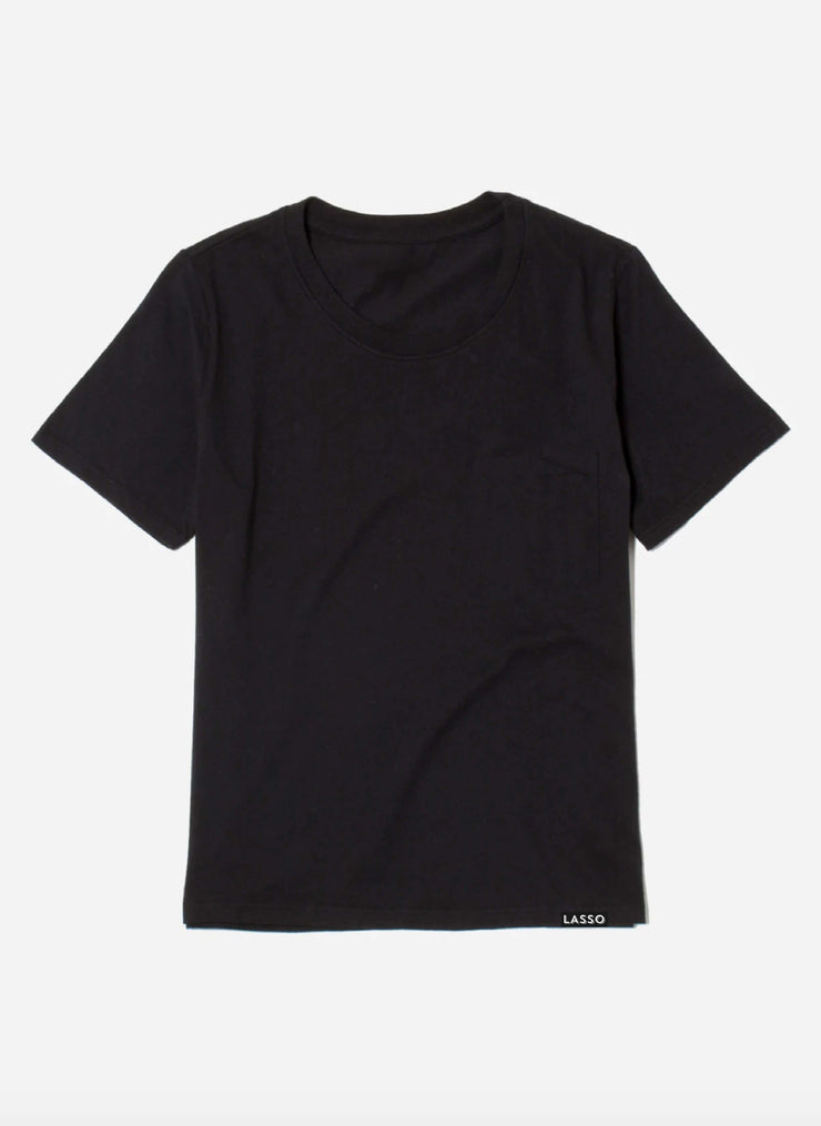 The Organic Box Cut Tee | Jet Black