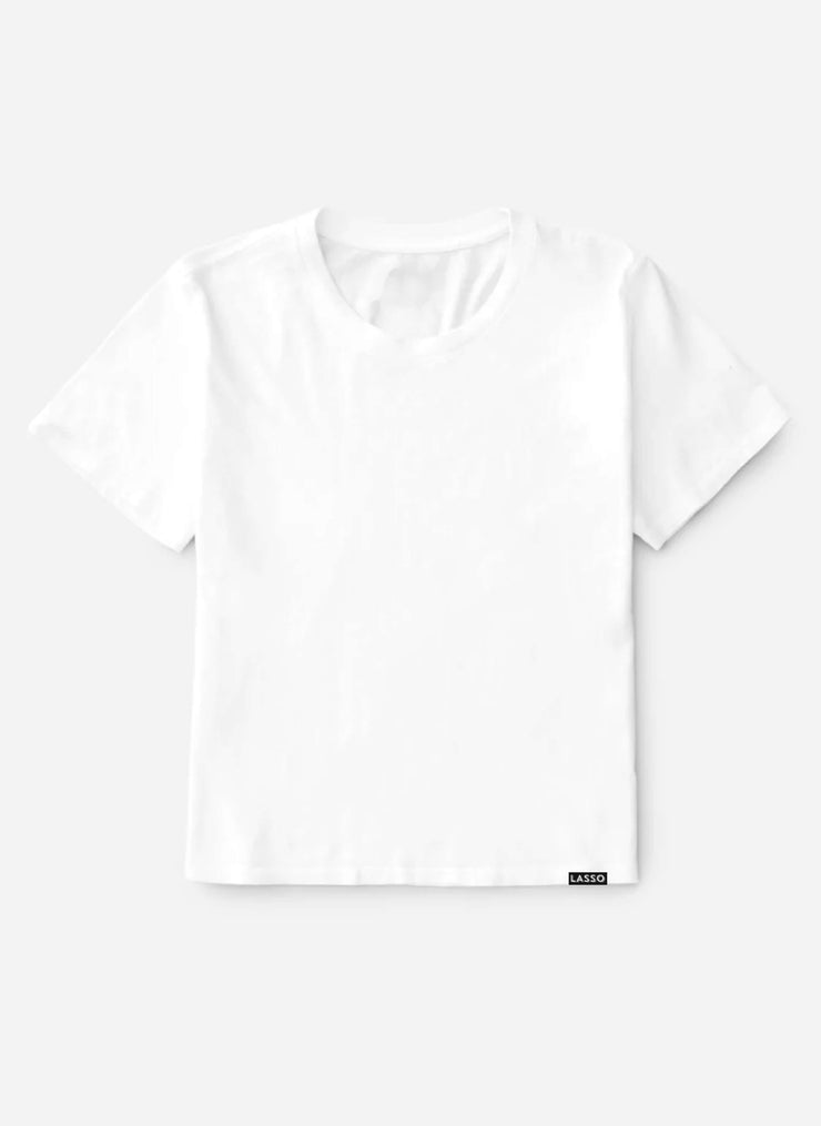 The Organic Box Cut Tee | Optic White