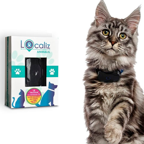Collier GPS pour chat LOOKAT® packaging