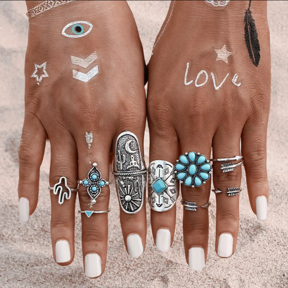 Bohemian Rings Touch of Europe (set 0f 9)