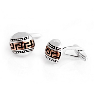 Silver Greek Men's Cufflinks