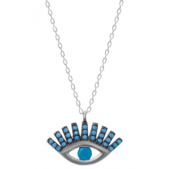 Eyelash Evil Eye Necklace