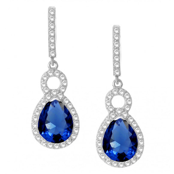 Sapphire Quartz Silver Earrings