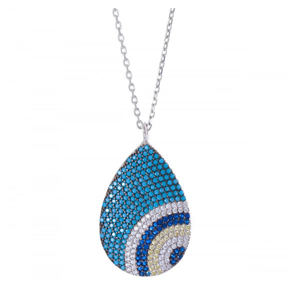 Luxury Evil Eye Drop Necklace