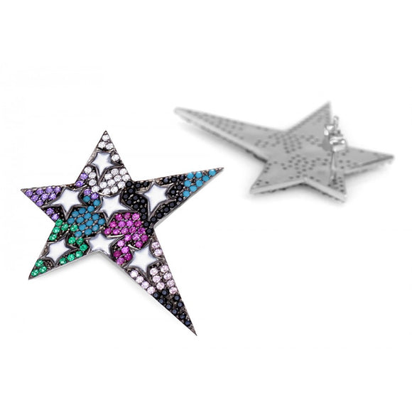 Celebrity Big Star Earrings