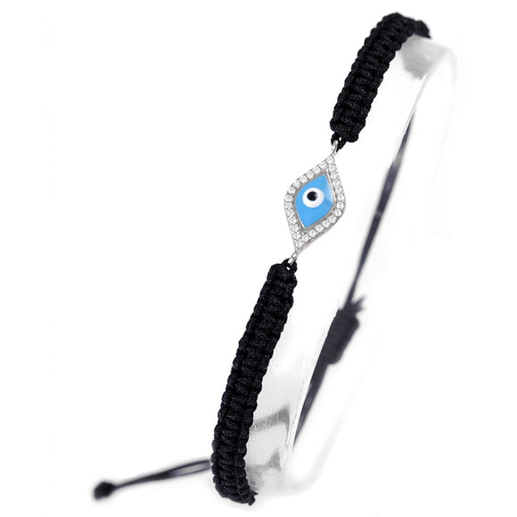 Evil Eye Adjustable Macrame Bracelet