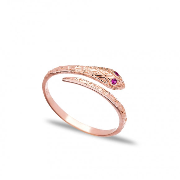 Dainty Snake Design  Adjustable Ring