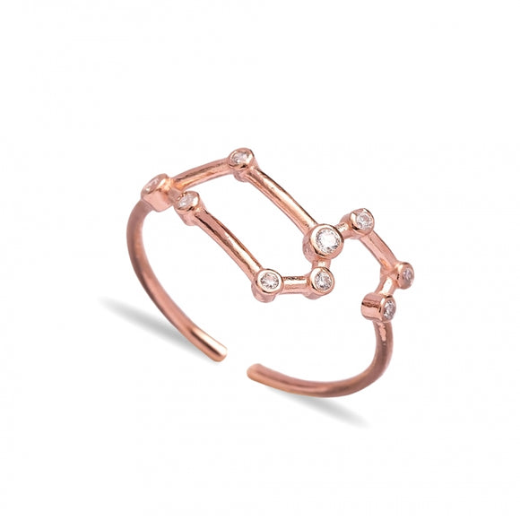 Leo Dainty Zodiac Constellation Ring