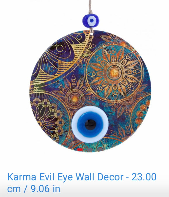 Karma Evil Eye Decor - Glass 23cms.