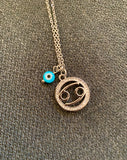 Zodiac Stainless Steel Chain Chain with Pendant & evil eye - $69 (Aporx 45cm)