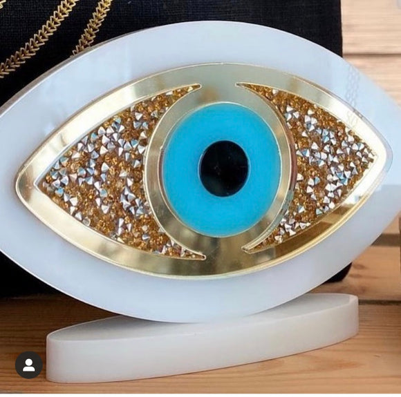 Glitter Eye with White Stand $104 - L 14cm- H 8cm