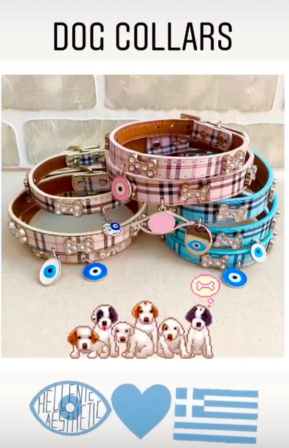 Dog Collars -Available 41cm- vary with different Evil Eye Charms