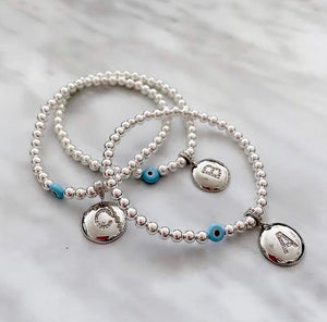 Personalised Initial Strech Bracelets! Orders yours today. Aprox 2 weeks delivery