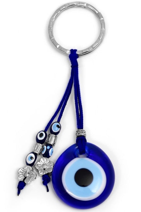 Blue Evil Eye Keychain