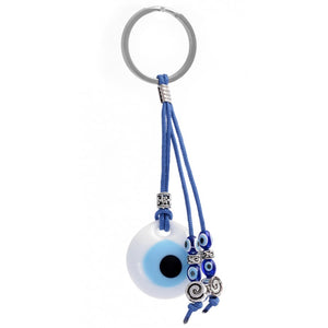 Good Luck Charm Keychain with Evil Eye