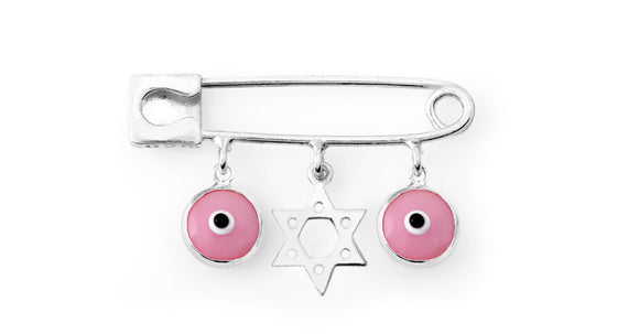 Baby Evil Eye Star of David Protection Pin (Photo To Come)