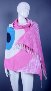 Pink Evil Eye Towel and Pareo