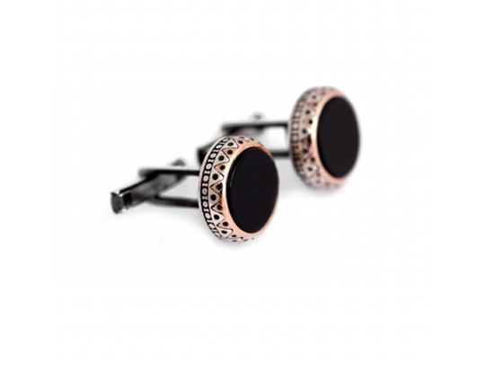 Classic Cufflinks with Agate Stone