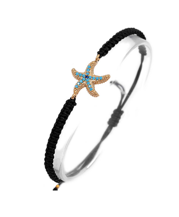 Starfish bracelet with nano stones - Adjustable